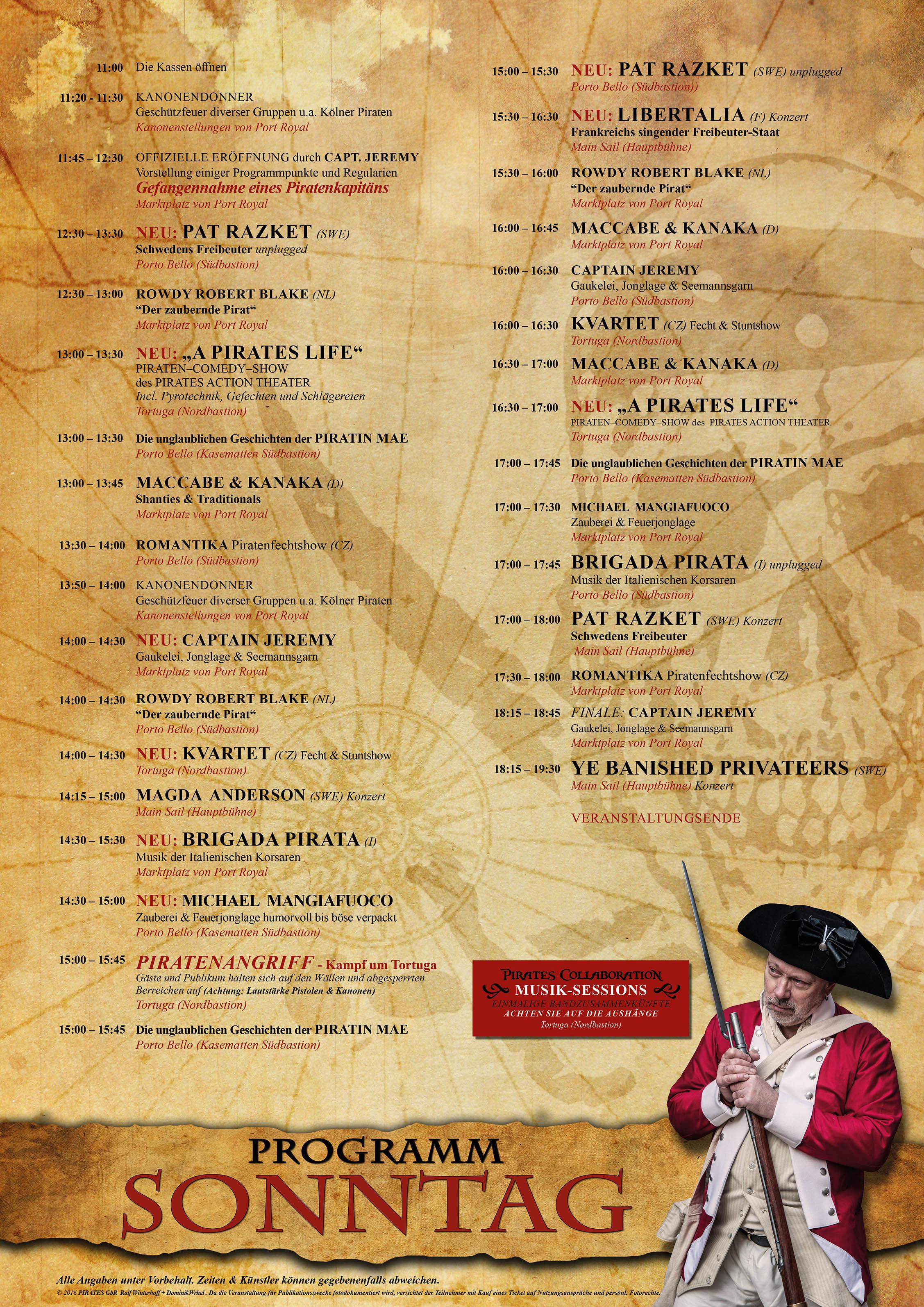 Programm 2016 Sonntag